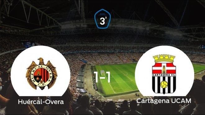 El Huércal-Overa y el Cartagena F.C. UCAM suman un punto tras empatar a uno