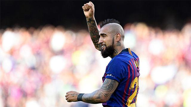 Arturo Vidal aprovechó un rechace para abrir el marcador ante el Getafe
