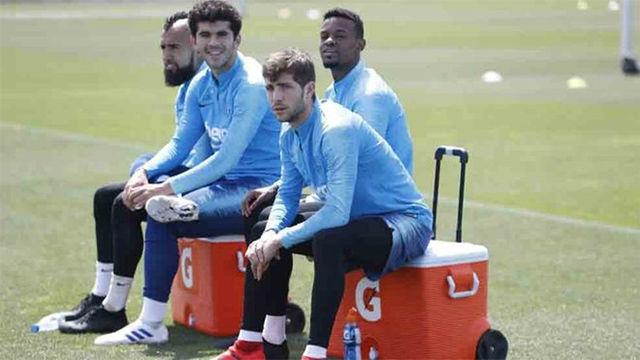 El Barça se ejercitó tras la victoria en Mendizorroza