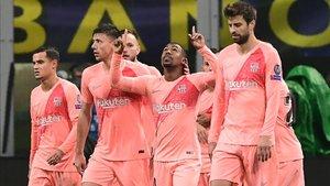 El Barça estrenó su tercera equipación frente al Inter