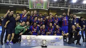 El FC Barcelona, vigente campeón de la Copa del Rey de balonmano