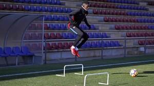 Dembélé fue el protagonista del entrenamiento