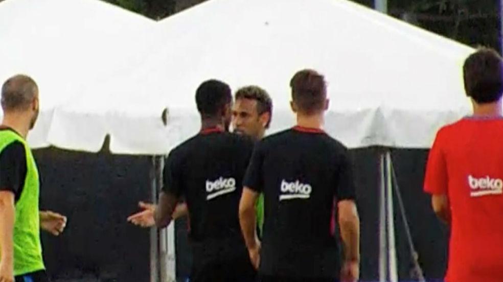 La discusión entre Neymar y Semedo