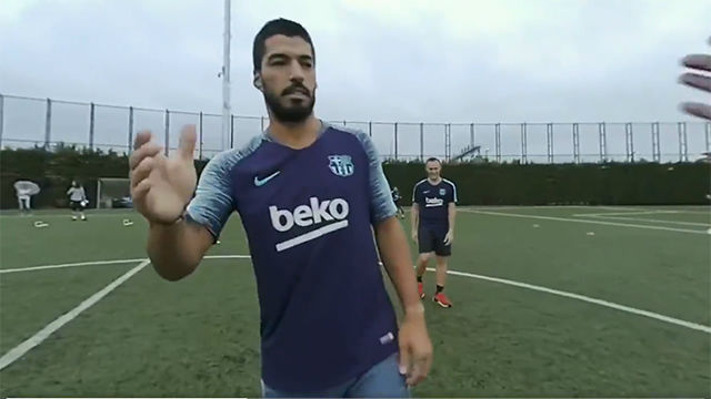 Un entrenamiento de Messi como nunca antes lo habías visto