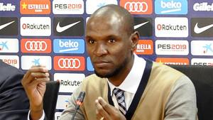 Éric Abidal, secretario técnico del Barça