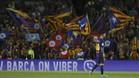 La grada del Camp Nou en el partido contra el Eibar