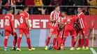 Imagen de archivo de una celebración de gol del Girona