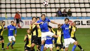 Imagen del partido entre Lleida y Hércules