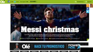 La información de Olé sobre el clásico Real Madrid-Barça