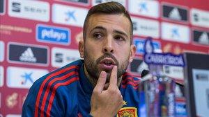 Jordi Alba reiteró su buena relación con Luis Enrique