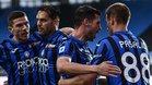 Jugadores de la Atalanta celebran un gol en una imagen de archivo