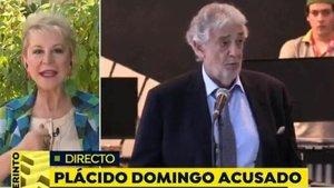 Karmele Marchante aclara sus palabras sobre Plácido Domingo