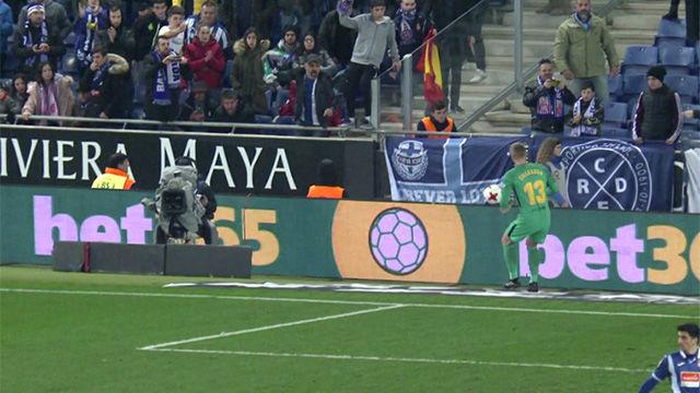 LACOPA | Espanyol - FC Barcelona (1-0): Cillessen recibió el impacto de un objeto