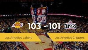 Los Angeles Lakers derrota a Los Angeles Clippers por 103-101