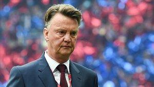 Louis Van Gaal como entrenador del Manchester United