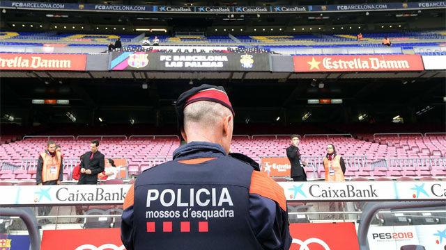 Mossos ven invasión de Tsunami del Camp Nou como el peor escenario posible