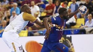 En el Palau el Barça se impuso al Nantes por 31-25