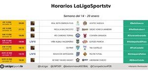 La programación de LaLigaTV del 18 al 20 de enero en SPORT.es