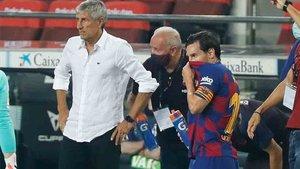 Quique Setién explicó cómo está Leo Messi