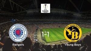 El Rangers y el Young Boys logran un punto tras empatar a uno