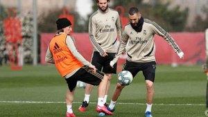 El Real Madrid ha entrenado esta mañana