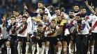 River celebra su triunfo en la final del Bernabéu