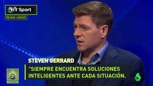 Steven Gerrard elogió a Sergio Busquets