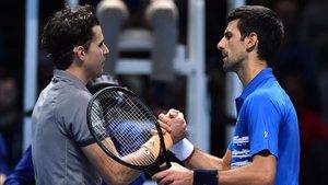 Thiem derrotó a Djokovic tras un gran partido