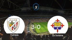 Tres puntos para el casillero del Torrijos tras pasar por encima a La Solana (3-0)