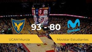 El UCAM Murcia vence al Movistar Estudiantes (93-80)