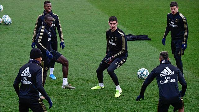Último entrenamiento del Real Madrid antes del Clásico
