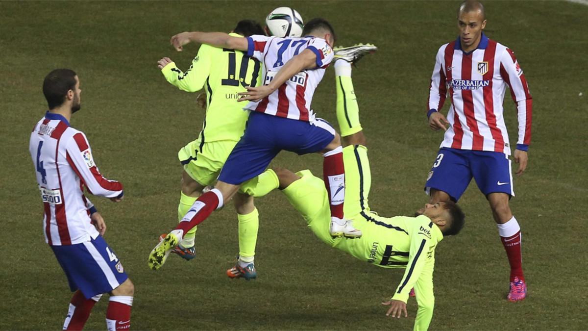 Los precedentes del Atlético - FC Barcelona en la Copa del Rey