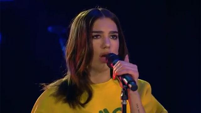 Actuación de Dua Lipa en la BBC