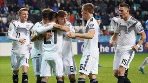 Alemania se impuso por 0-3 a Estonia