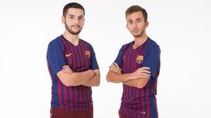 Alex Alguacil y Pau Lara ya posan con las camisetas del Barça