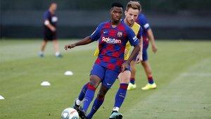 Ansu ya ha realizado algunas sesiones de entrenamiento con el primer equipo