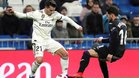 Arnáiz, en un lance del duelo ante el Madrid de Copa
