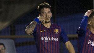 Carles Pérez celebró a lo grande su gol
