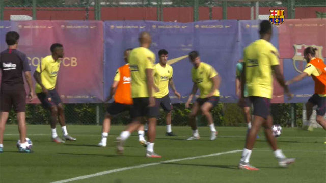Cinco jugadores del filial del Barça se unen al entrenamiento