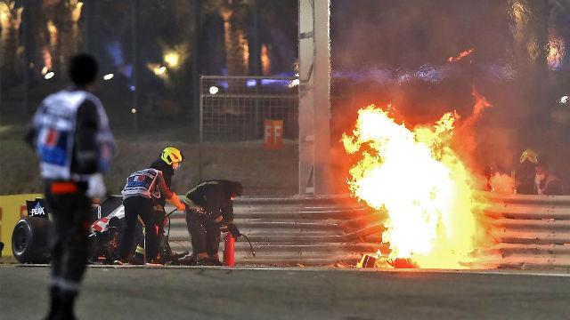 El delegado médico de la FIA, sobre el accidente de Grosjean: No soy un héroe