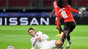 Eduardo Camavinga disputó su primer partido de Champions League