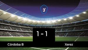 Empate, 1-1, entre el Córdoba B y el Xerez