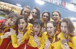El equipo de sincronizada logró el bronce