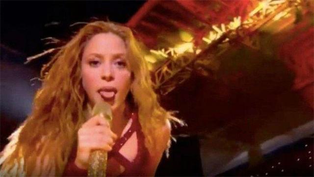 El gesto viral de Shakira con la lengua