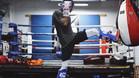 Hamilton, en acción practicando las artes marciales