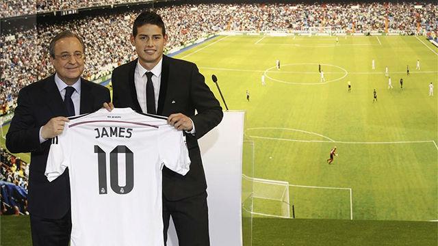 James Rodríguez llegó al Madrid en 2014, tras brillar en el Mundial de Brasil