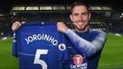 Jorginho ya posa con la camiseta del Chelsea
