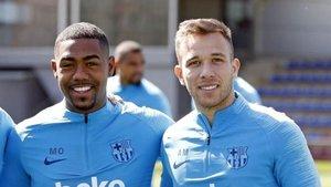 Malcom y Arthur hicieron buenas migas en el Barcelona