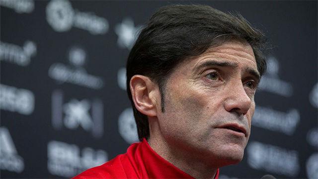 Marcelino habló en rueda de prensa en la previa del Valencia-Barça de Copa
