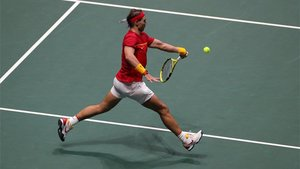 Nadal ganó su partido individual